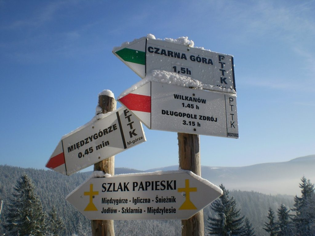 Z archiwum Pixabay https://pixabay.com/en/winter-mountains-signpost-sign-449773/