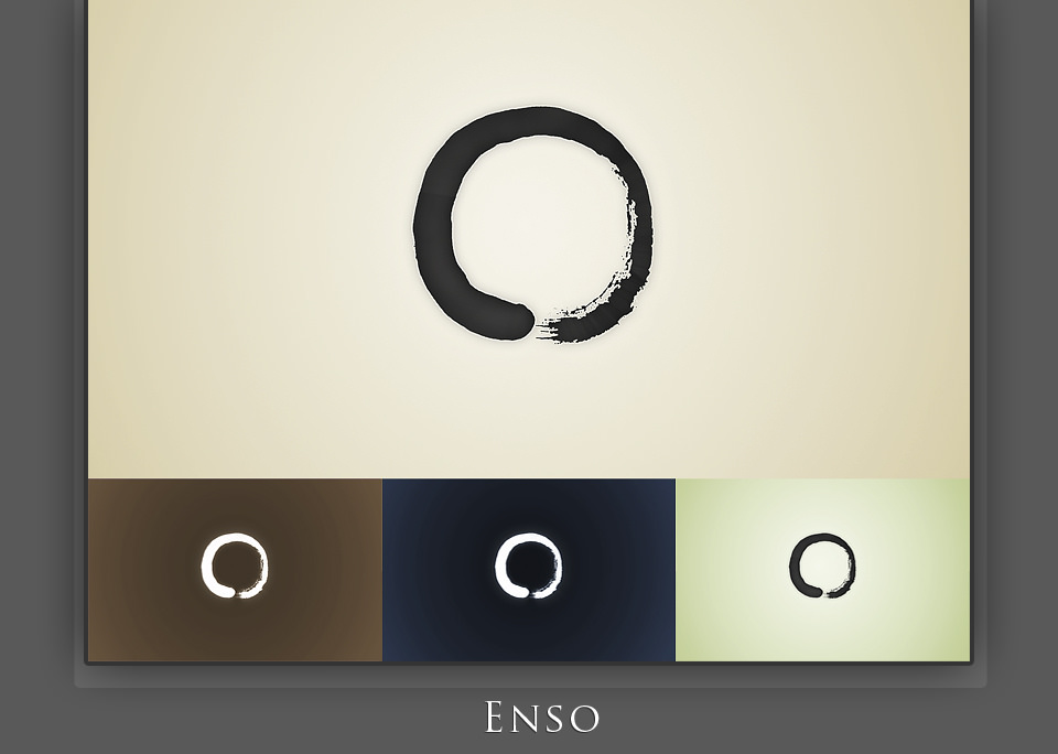 Ensō (円相), 8 Colors Choice. Fot. Enkhtuvshin, Flickr https://www.flickr.com/photos/lum1neuz/4688162956