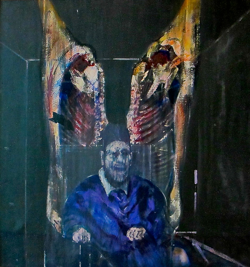 "Francis Bacon ""Postać z mięsem"" (Figure with Meat), 1954, Art Institute of Chicago. Fot. Ed Bierman, Flickr https://www.flickr.com/photos/edbierman/6089382296"
